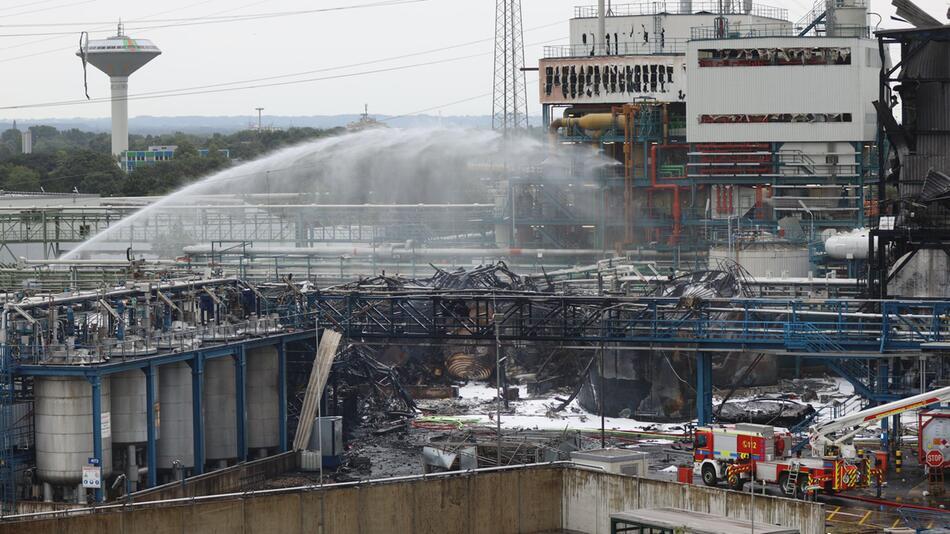 Nach der Explosion im Leverkusener Chempark