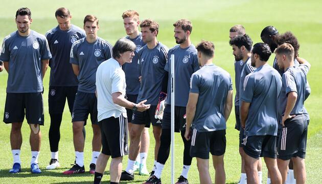 Fußball EM - Abschlusstraining Deutschland