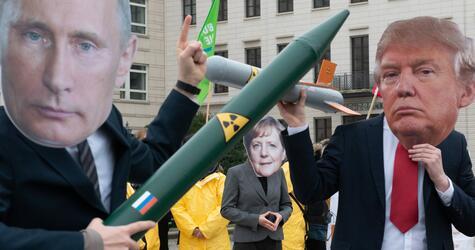 Protest gegen Auflösung des INF-Vertrages