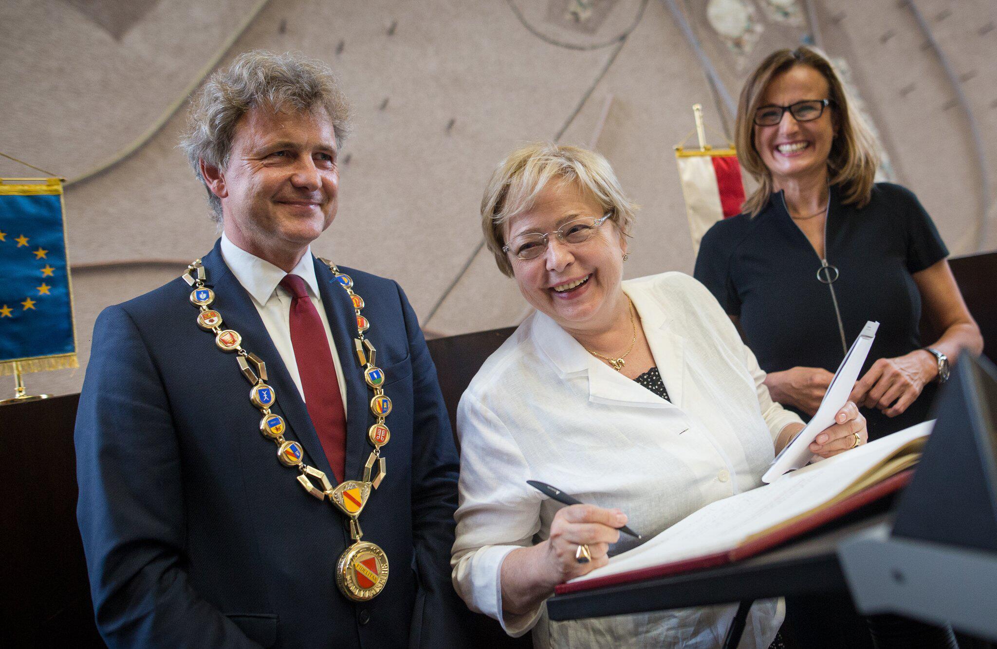 Bild zu Gerichtspräsidentin Gersdorf in Karlsruhe