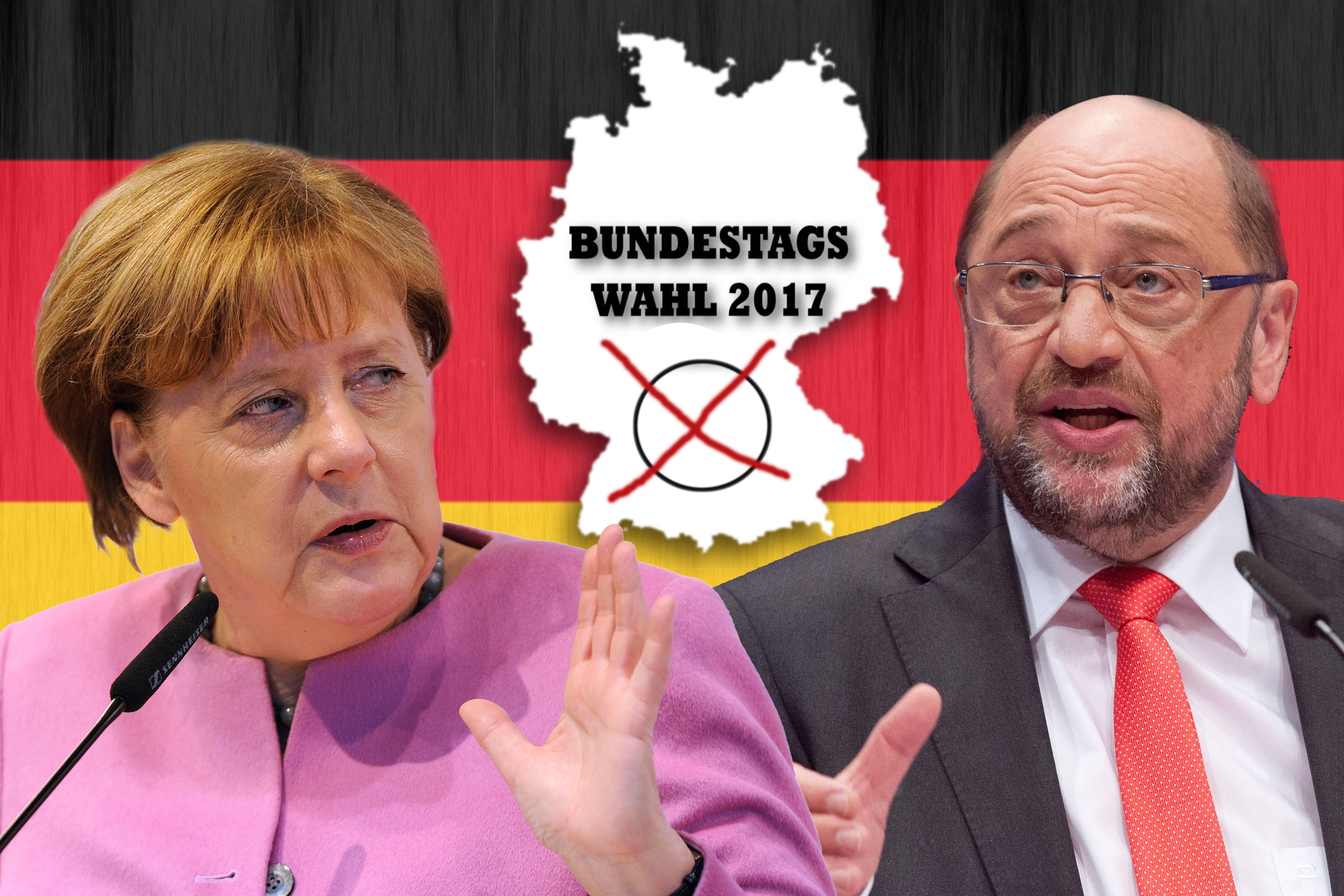 Bild zu TV Duell, Bundestagswahl, Martin Schulz, Angela Merkel