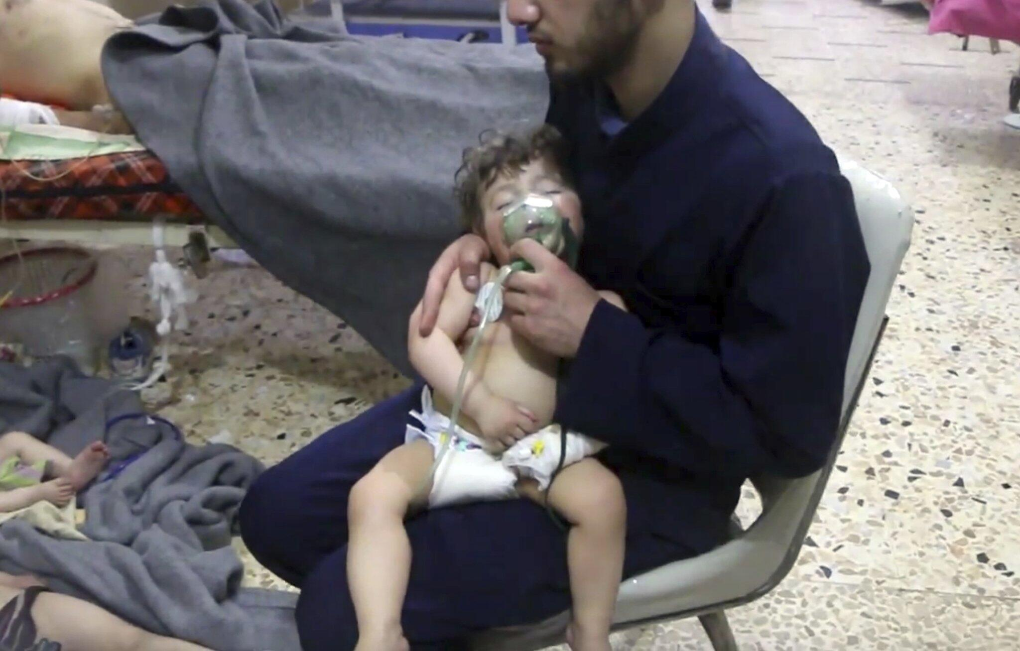 Bild zu Mutmaßlicher Giftgasangriff in Syrien