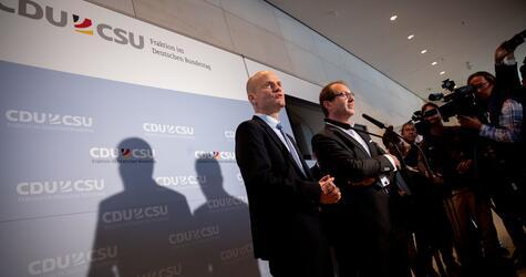 Ralph Brinkhaus, Alexander Dobrindt, Union, CDU, CSU, Bundestagsfraktion