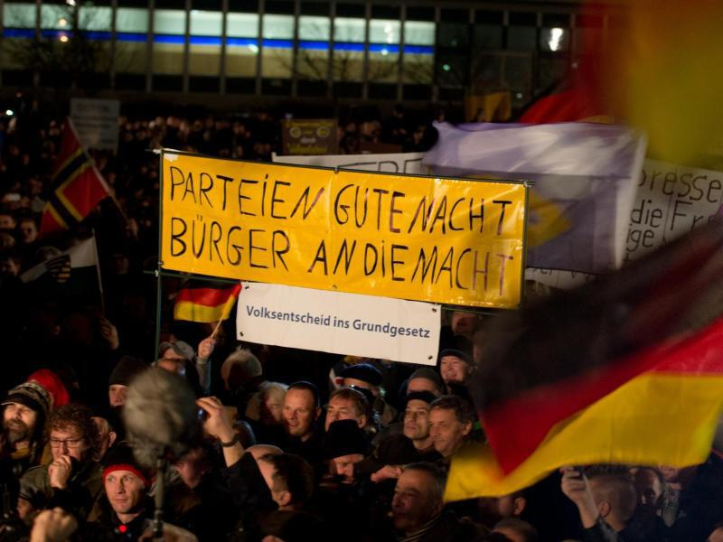 Bild zu Pegida-Demonstration