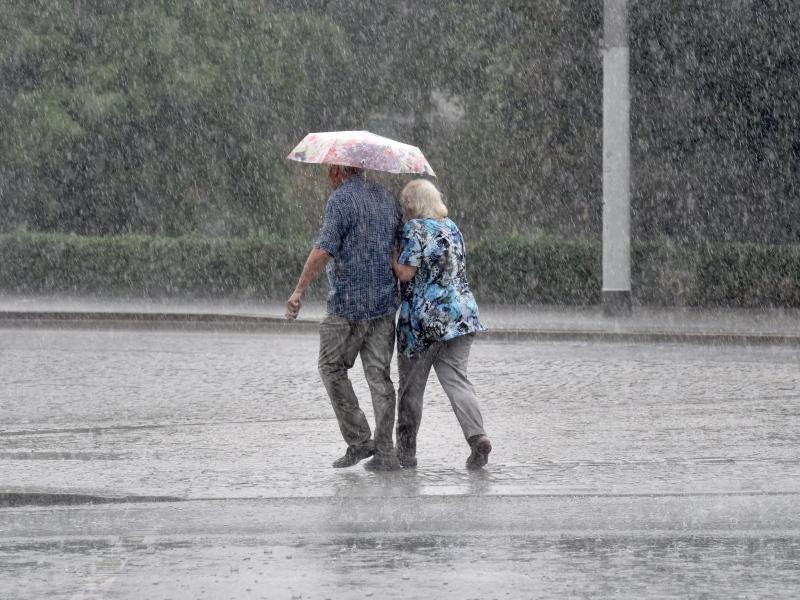 Bild zu Gewitterregen