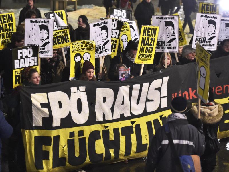 Bild zu Demonstration in Wien