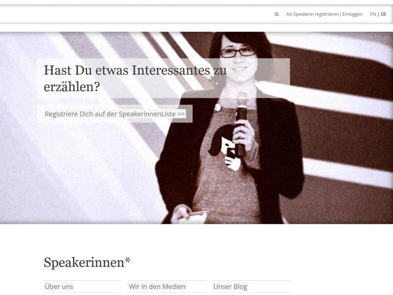 Bild zu «Speakerinnen.org» verhilft zu weiblicher Expertise