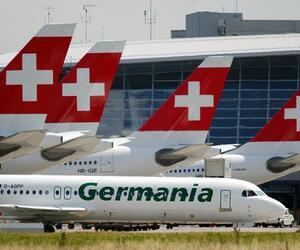 Germania, Airline, Fluggesellschaft, Schweiz, Glattbrugg, Zürich