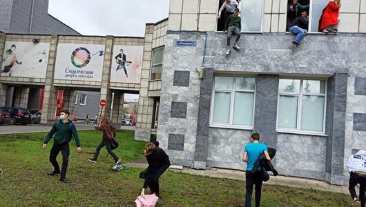 Mann schießt an Uni in Russland um sich
