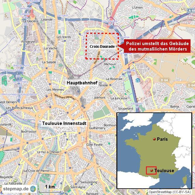 Bild zu Stadtplan von Toulouse
