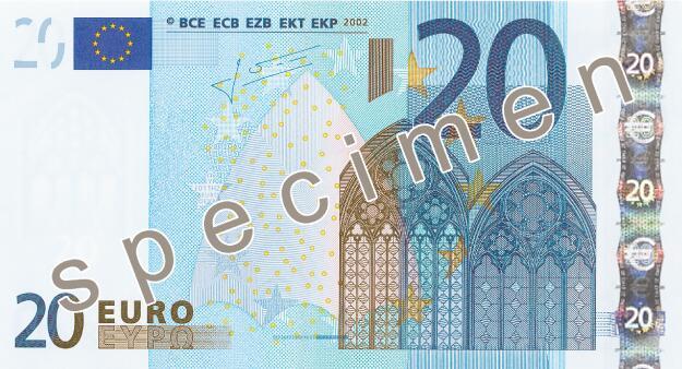 Bild zu 20 Euroschein Design erste Serie