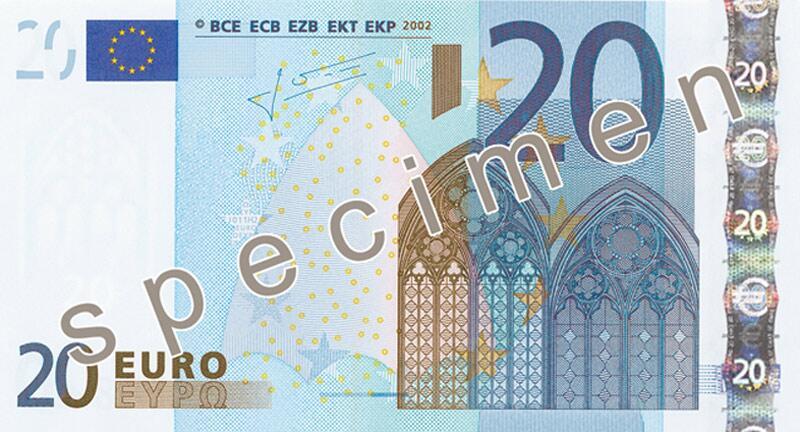 Bild zu 20-Euro-Schein