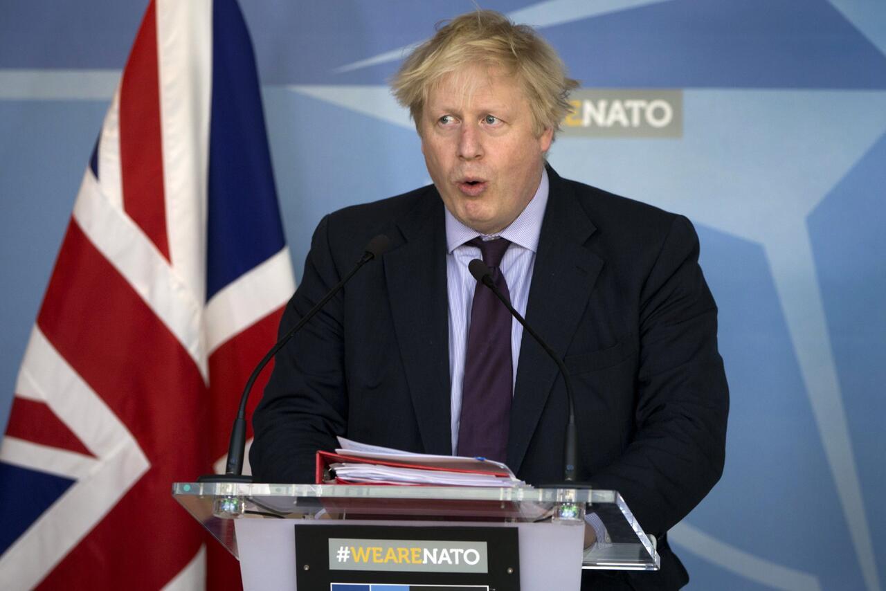 Bild zu Britischer Außenminister Boris Johnson spricht in Brüssel