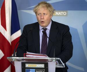Britischer Außenminister Boris Johnson spricht in Brüssel