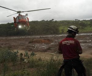 Damm an Eisenerzmine in Brasilien gebrochen
