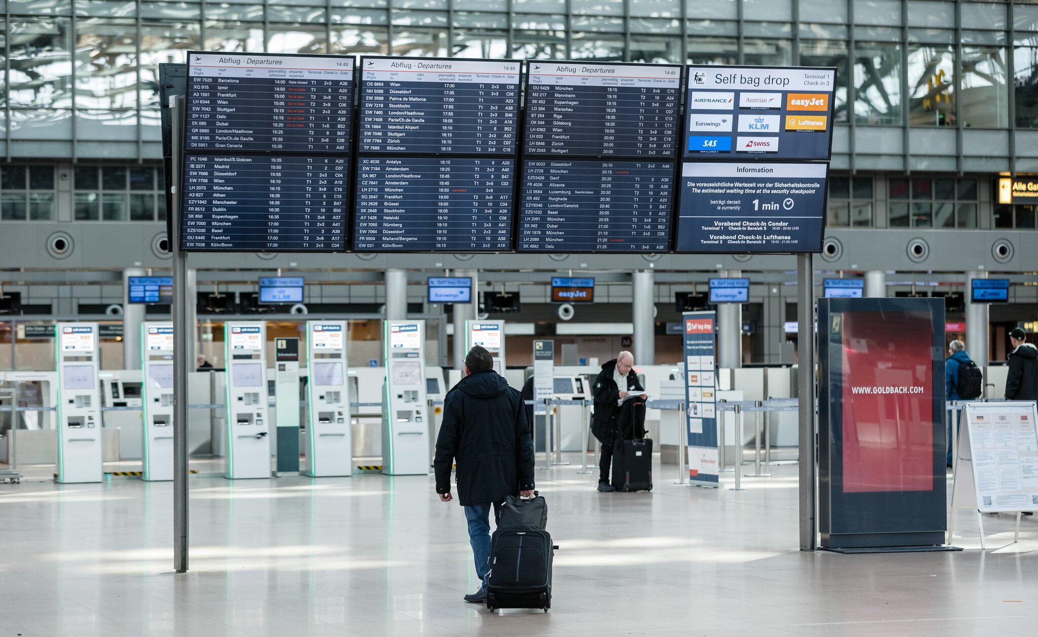 Bild zu Coronavirus - Flughafen Hamburg