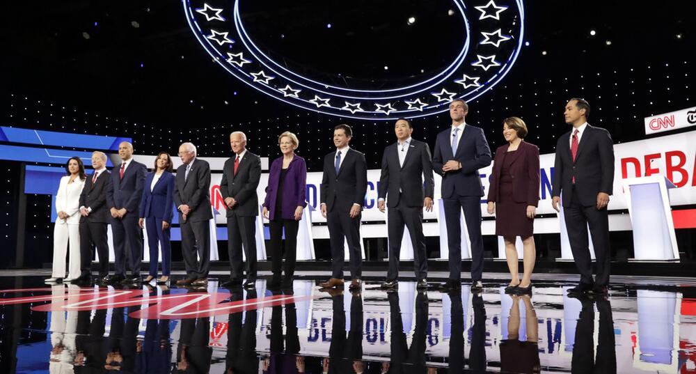 Wahlkampf in den USA - 4. TV-Debatte der Demokraten