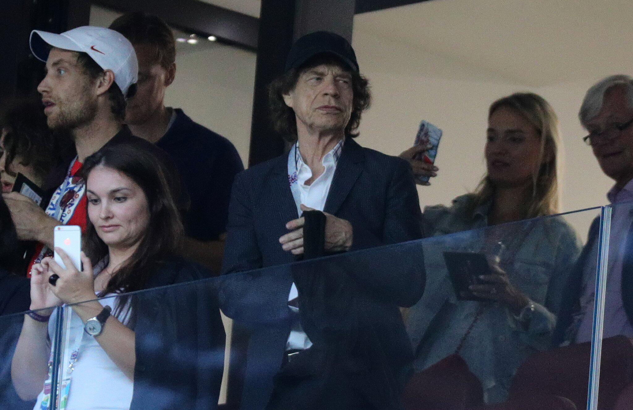 Bild zu WM 2018 - Kroatien - England, Mick Jagger