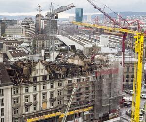 Nach einem Großbrand in Zürich