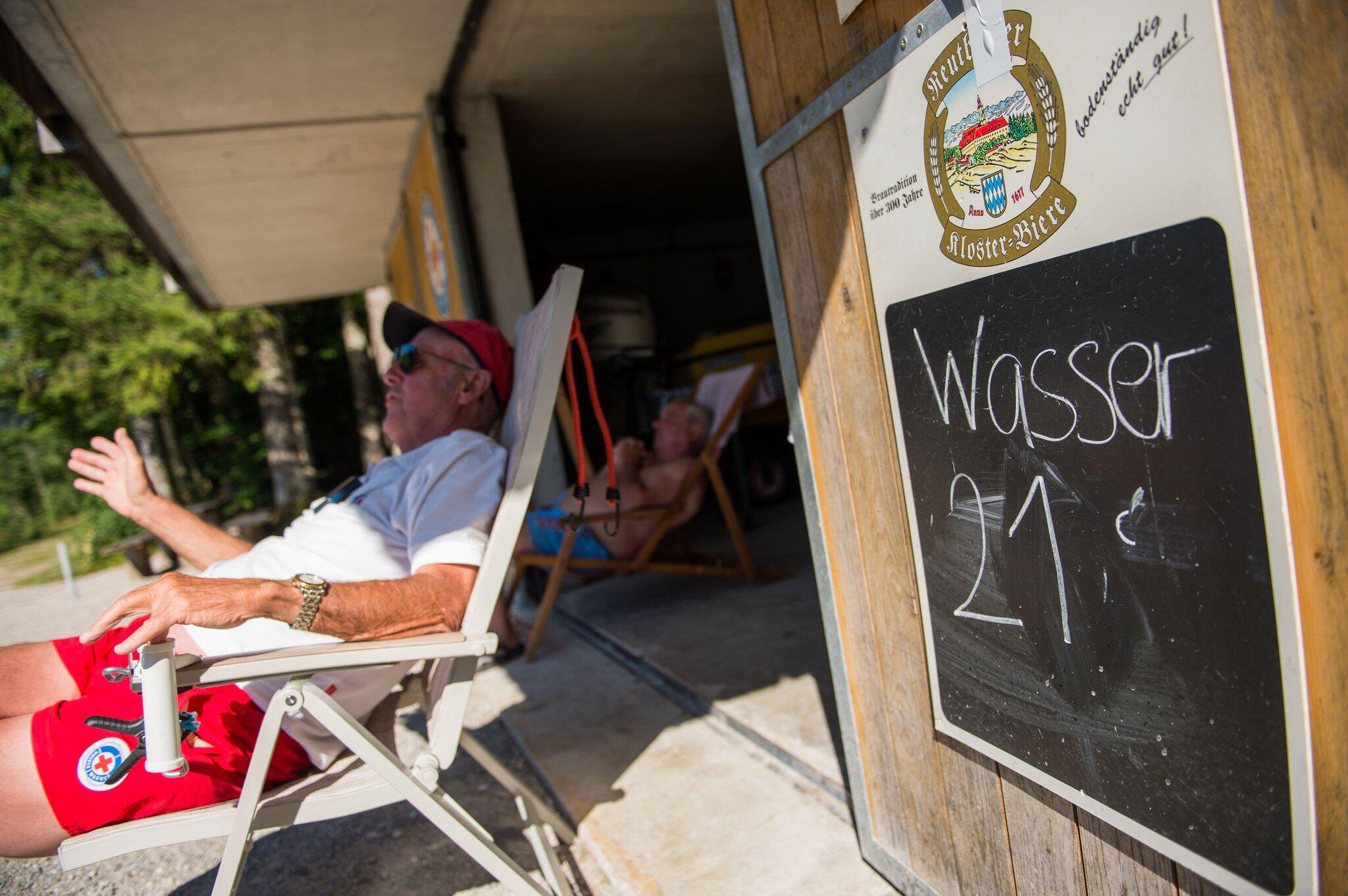 Bild zu Sommerhitze - Sylvensteinstausee / Lenggries
