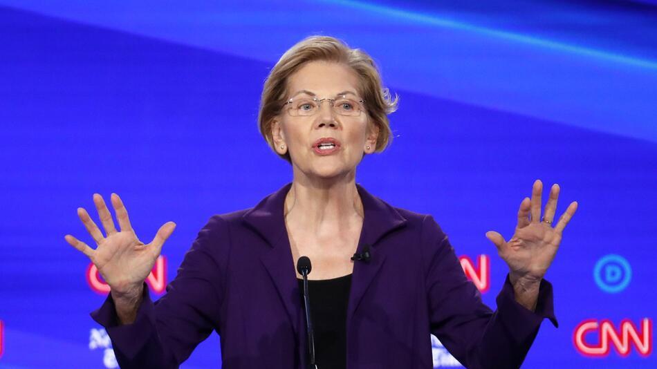 Elizabeth Warren, Wahlkampf in den USA - 4. TV-Debatte der Demokraten