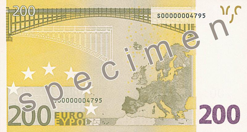 Bild zu 200-Euro-Schein