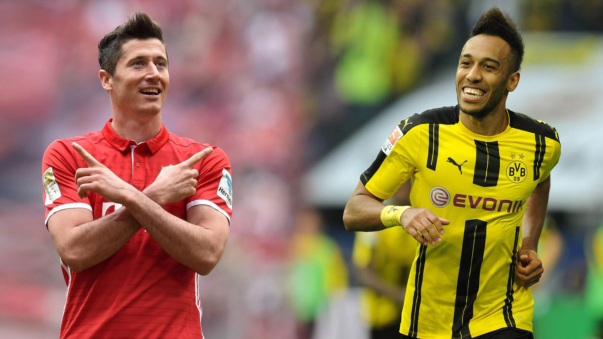 Bild zu FC Bayern München, Borussia Dortmund, Bundesliga, Lewandowski, Aubameyang