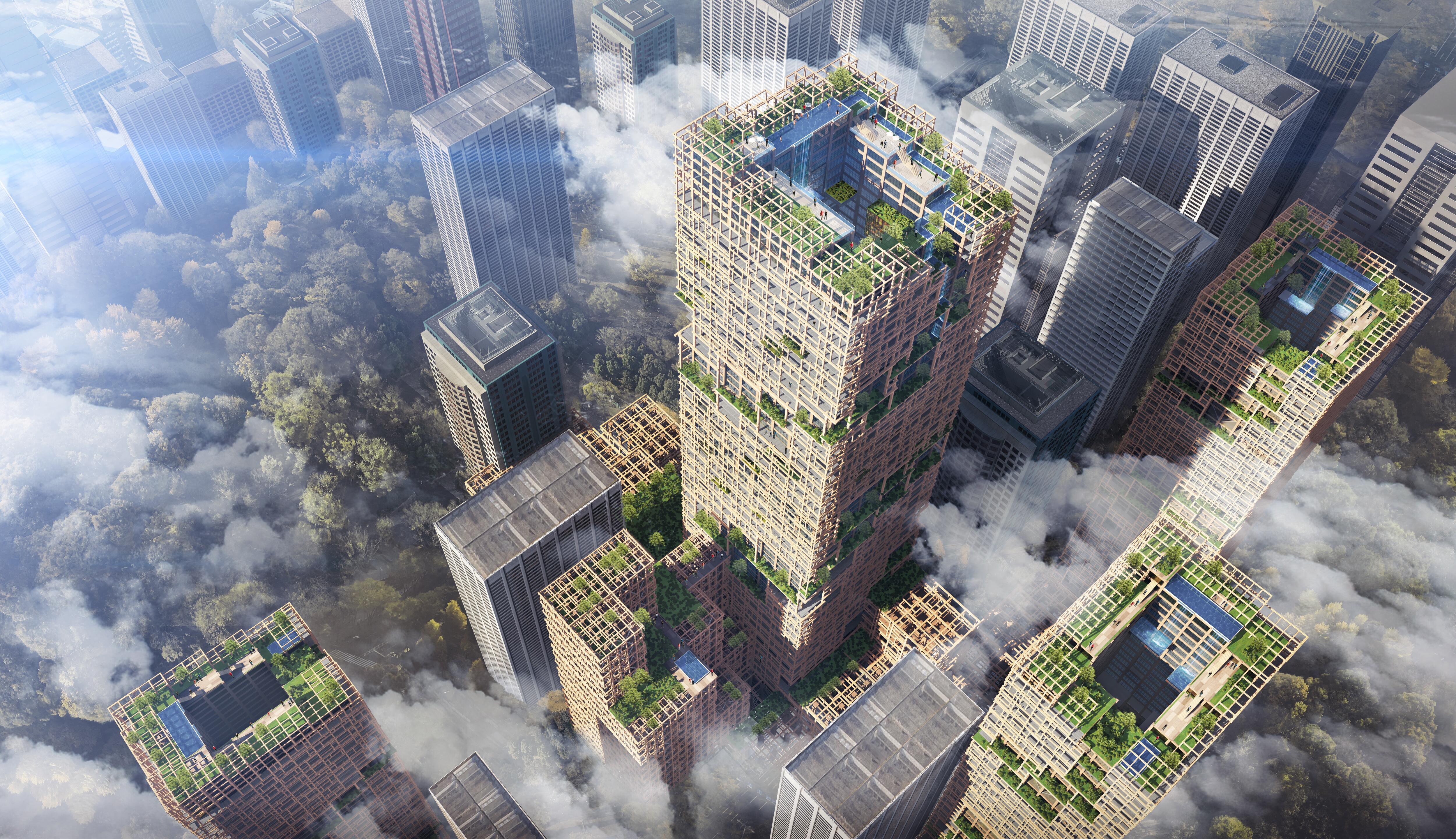 Bild zu Tokio, Wolkenkratzer, Hochhaus aus Holz, Hochhaus, Holz