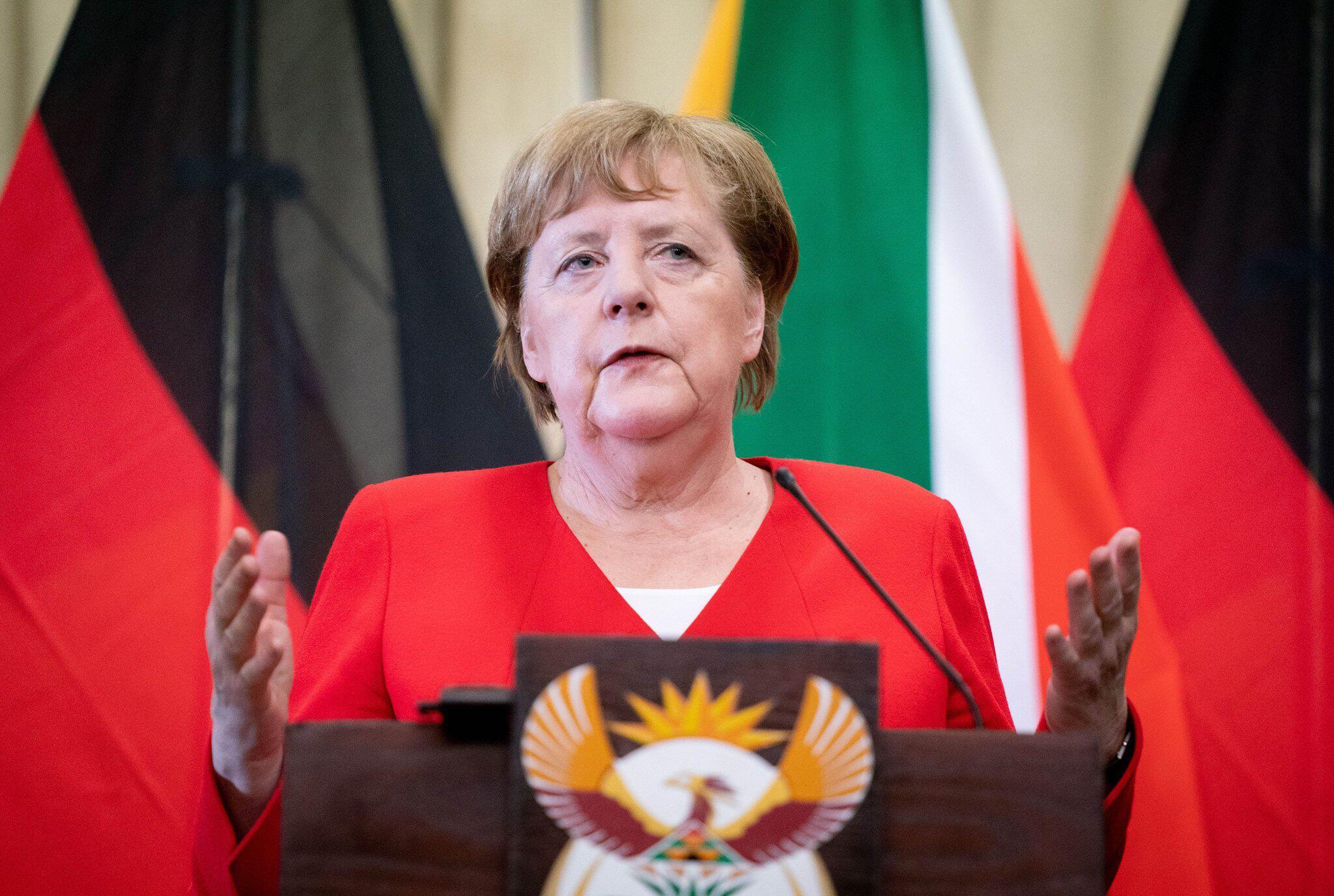 Bild zu Besuch der Kanzlerin Angela Merkel in Südafrika