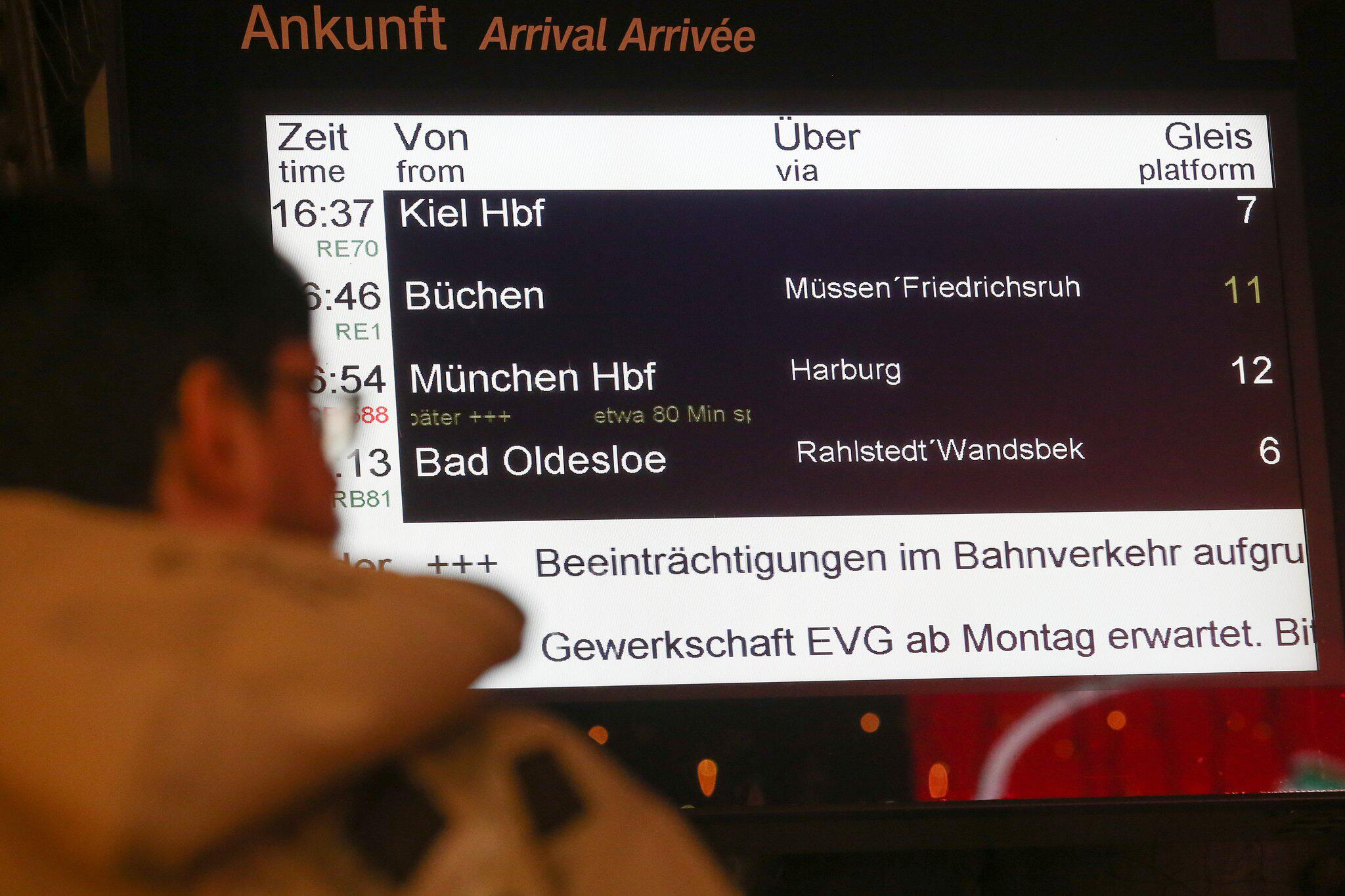 Bild zu Bahnstreiks zum Wochenstart