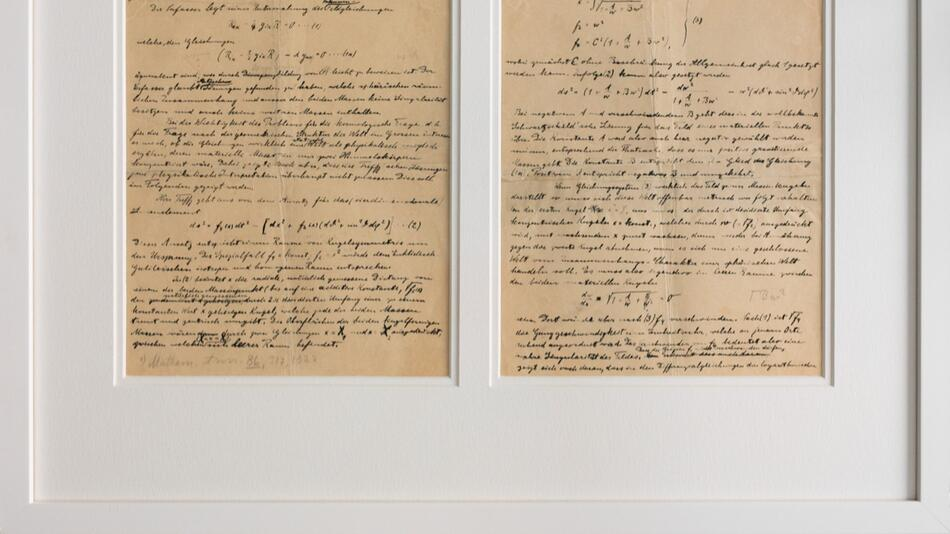 Nobelmuseum erhält Einstein-Manuskript