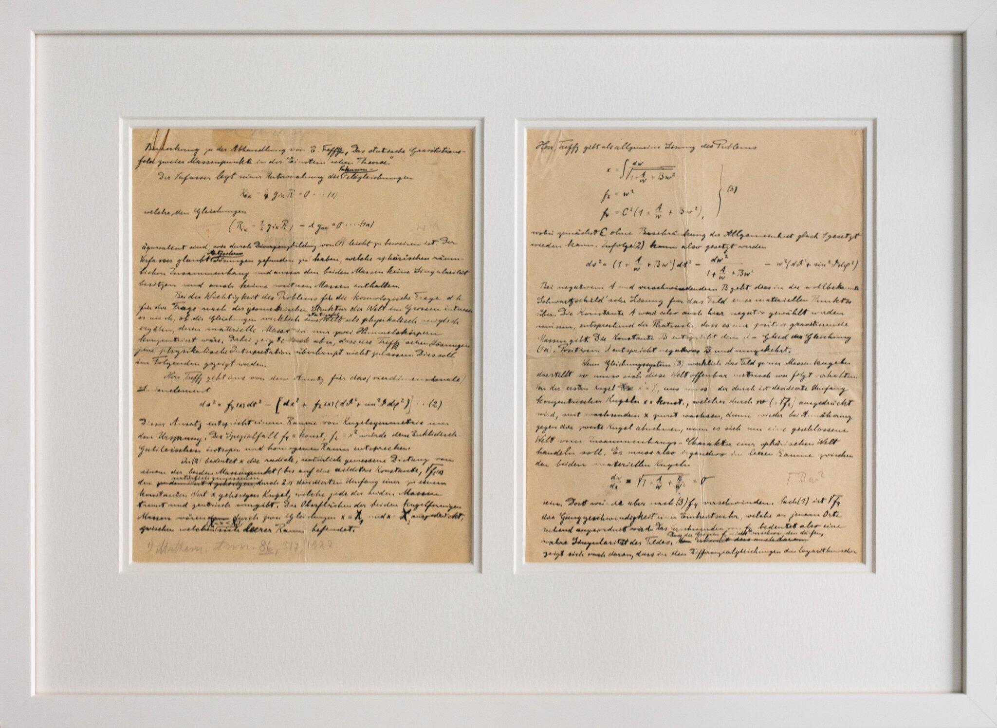Bild zu Nobelmuseum erhält Einstein-Manuskript
