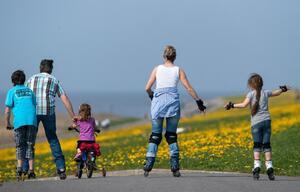 Familienausflug auf Rädern