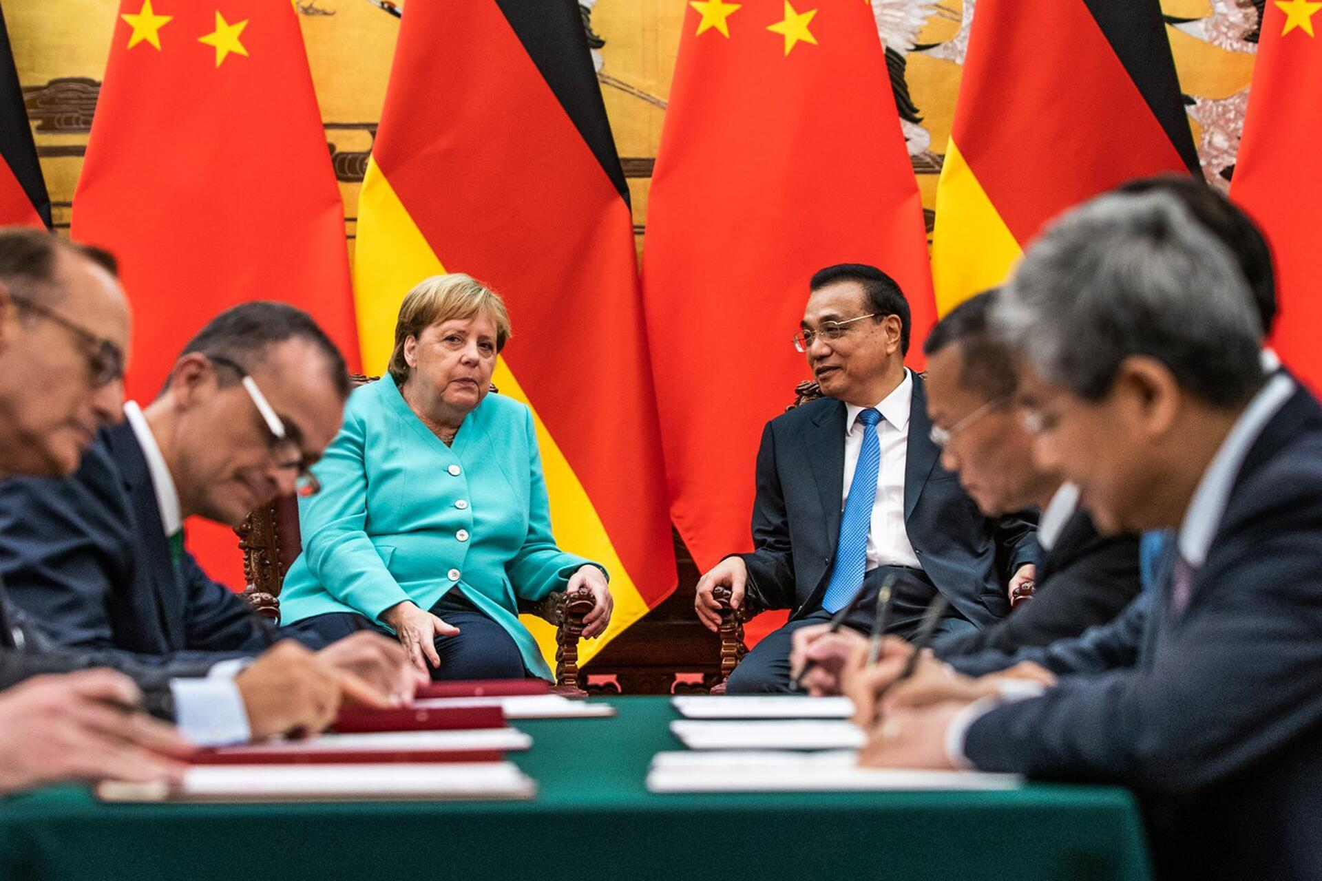 Bild zu Bundeskanzlerin Merkel in China