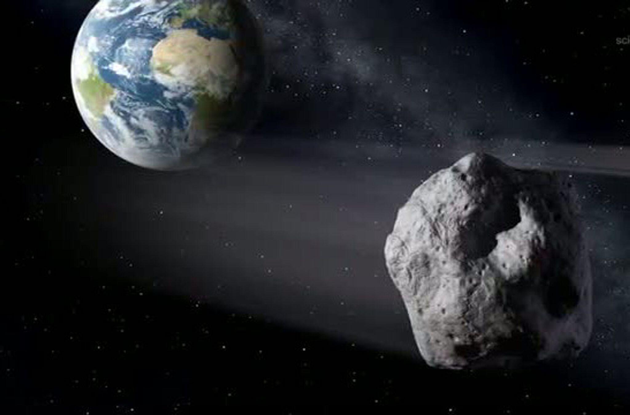 Bild zu Asteroid fliegt an der Erde vorbei