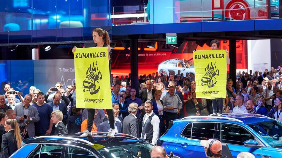 Greenpeace-Protestaktion auf der IAA