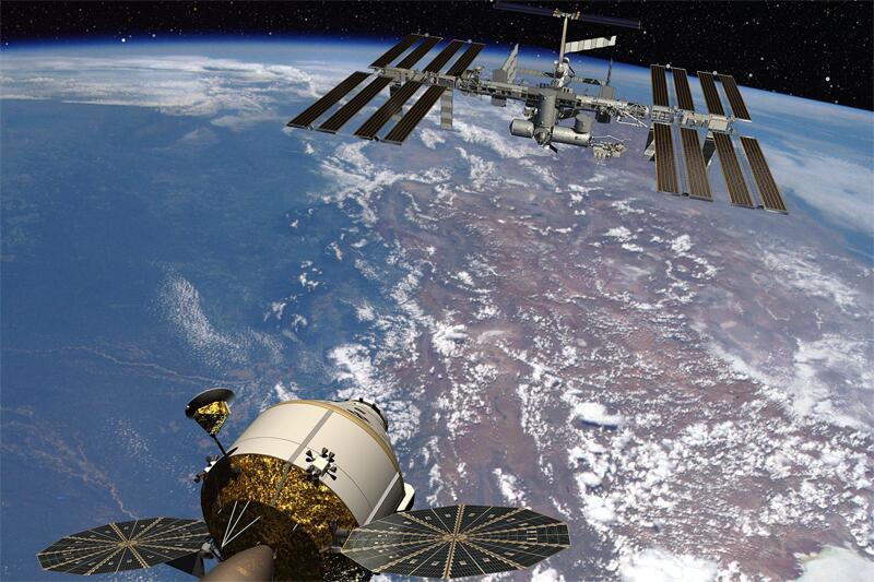 Bild zu Raumsonde Orion und ISS
