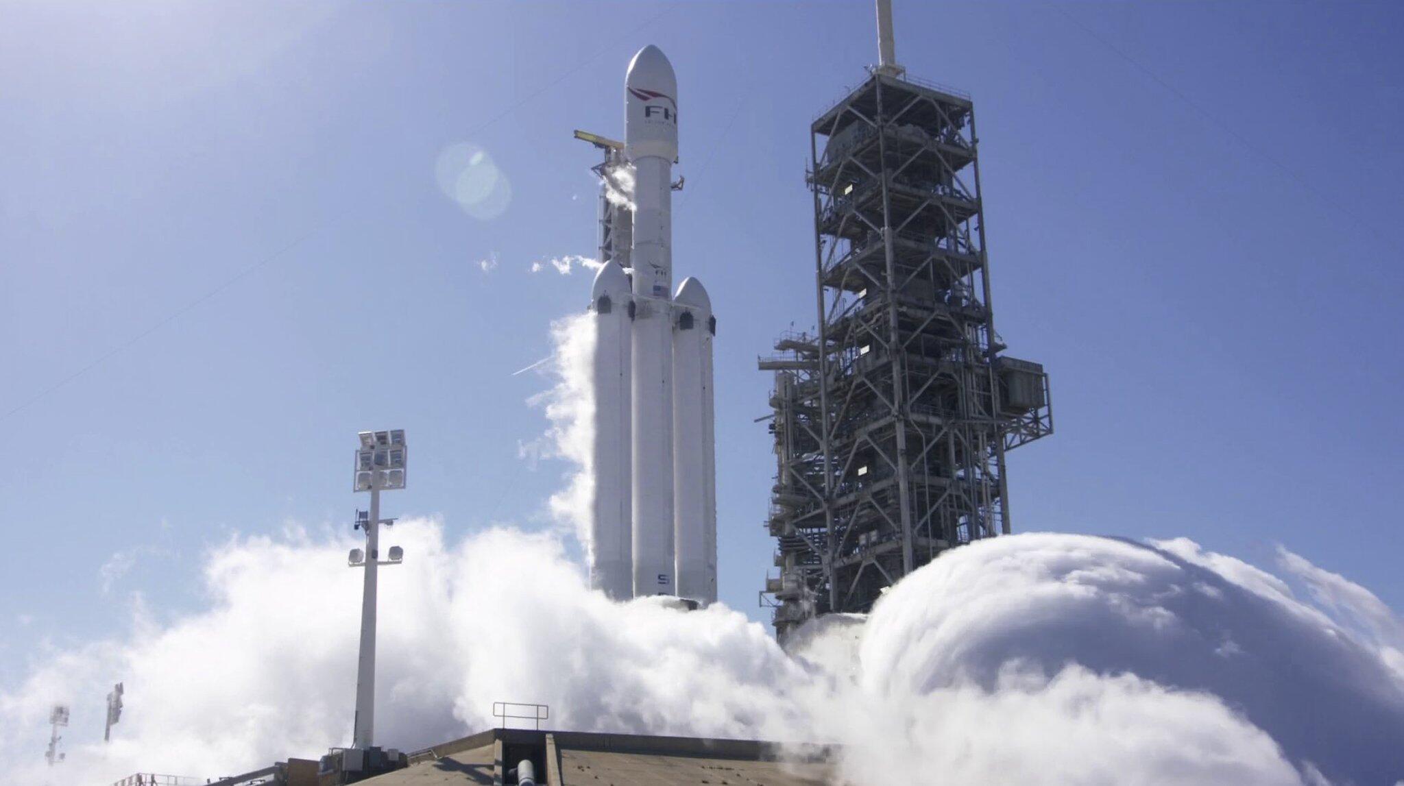 Bild zu Teststart einer SpaceX Falcon-Rakete