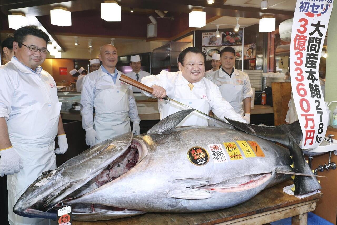 Bild zu Thunfisch-Auktion in Tokio