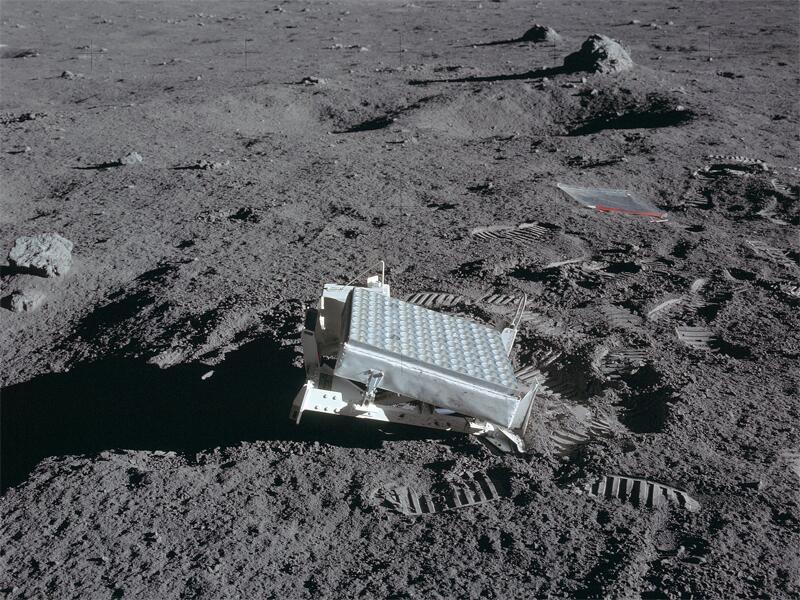 Bild zu Mess-Reflektoren auf dem Mond