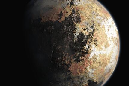 Grafik vom Zwergplaneten Pluto