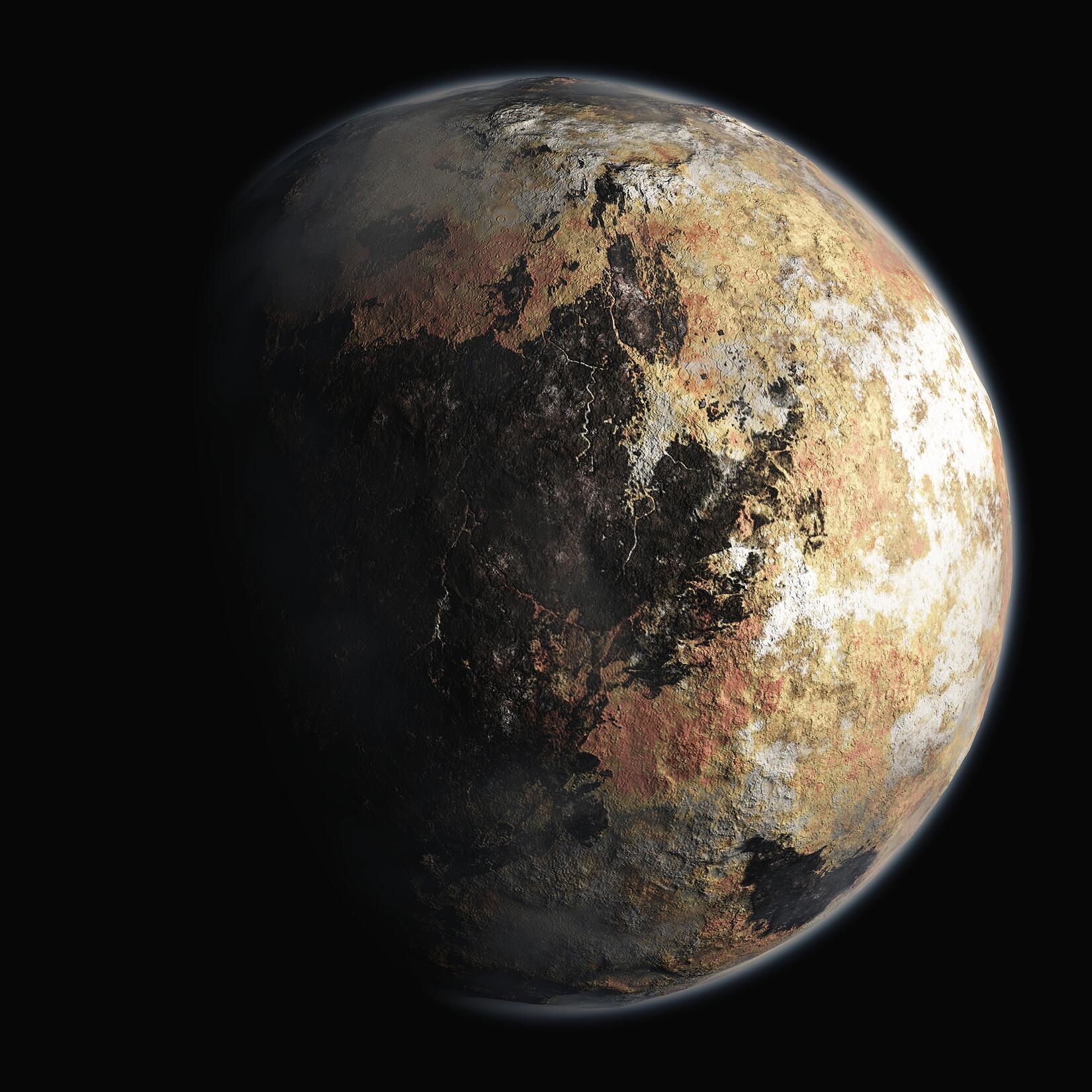 Bild zu Grafik vom Zwergplaneten Pluto