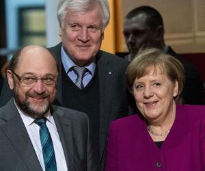 Coalition talks between SPD, CDU and CSU, Angela Merkel, Horst Seehofer, Martin Schulz