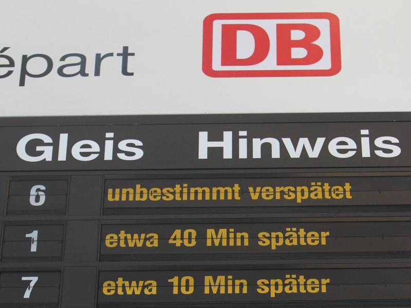 Bild zu Tafel der Deutschen Bahn
