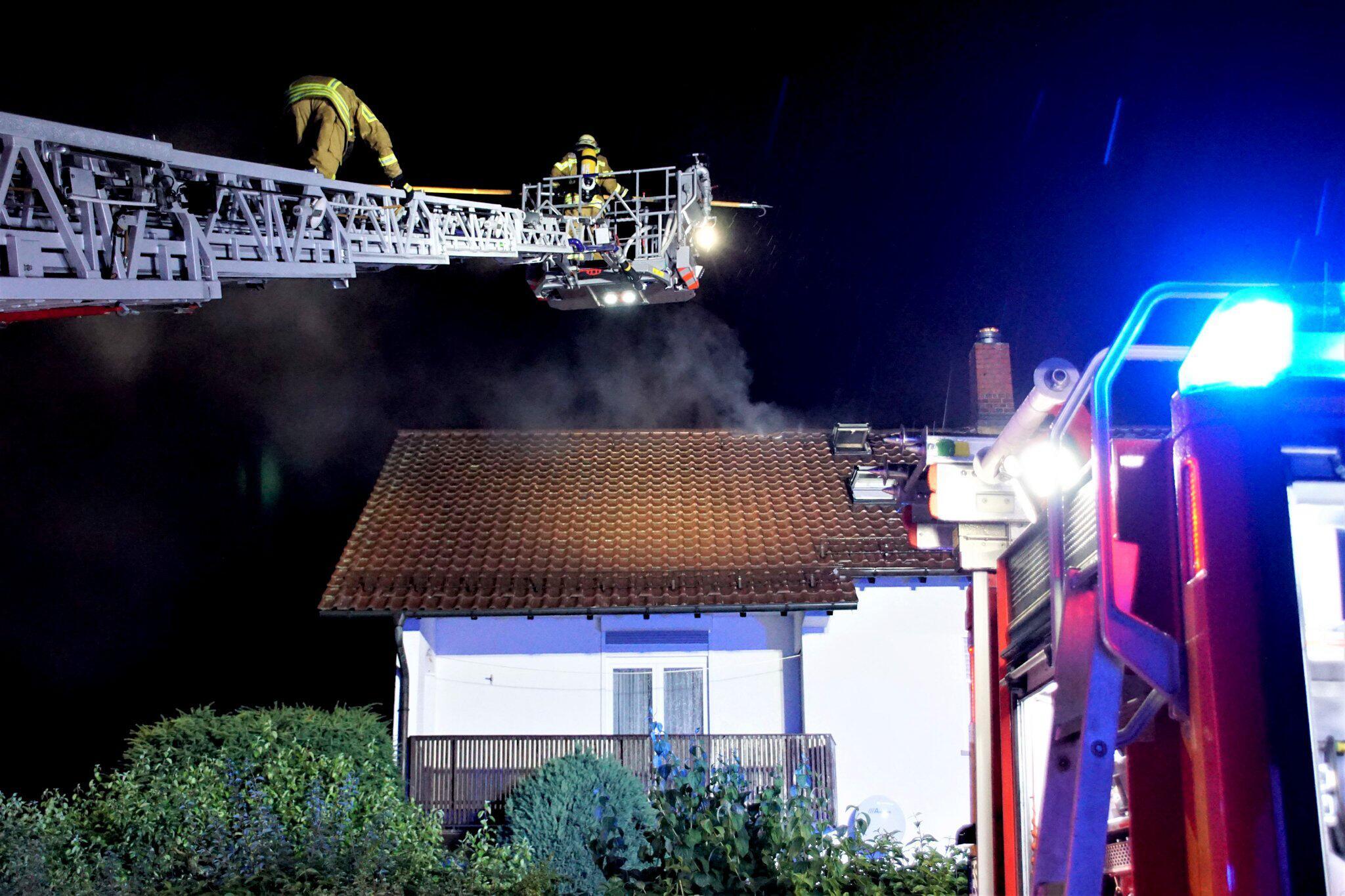 Bild zu Dachstuhlbrand bei Esslingen