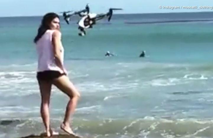 """Bild zu Voll """"zugedrohnt"""": Diesem Model knallt eine Drohne gegen den Kopf"""