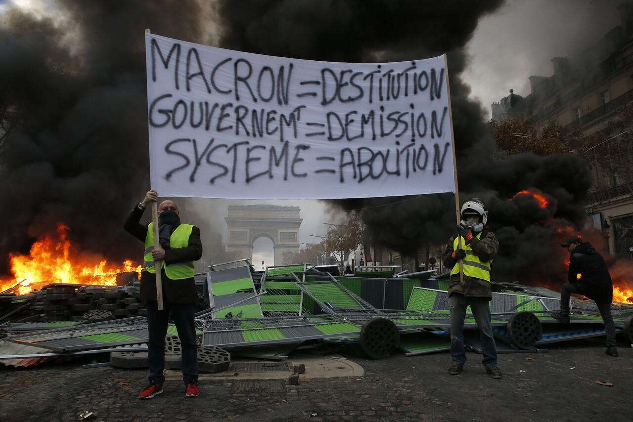 Bild zu Protest gegen zu hohe Spritpreise in Frankreich