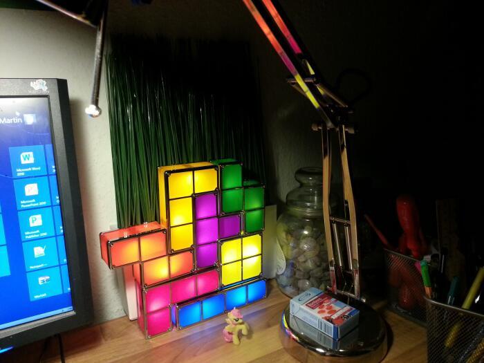 Bild zu Tetris-Lampe