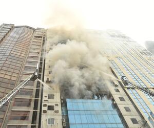 Hochhaus brennt in Bangladesch
