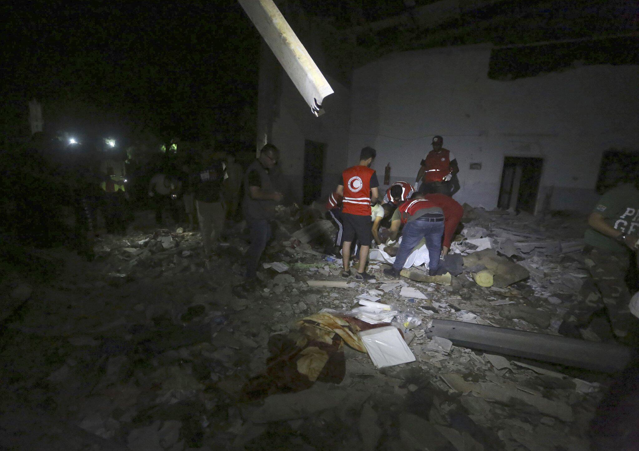 Bild zu Angriff auf Migrantenzentrum in Libyen